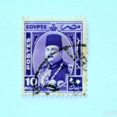 Sellos: SELLO POSTAL EGIPTO 1944 , 10 MILLIEME, REY FAROUK , USADO. Lote 154910150