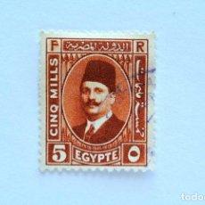 Sellos: SELLO POSTAL EGIPTO 1929 , 5 MILLIEME, REY FUAD I , USADO. Lote 154913278
