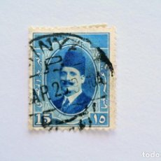 Sellos: SELLO POSTAL EGIPTO 1923 , 15 MILLIEME, REY FUAD I, USADO. Lote 154917814