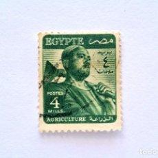 Sellos: SELLO POSTAL EGIPTO 1953 , 4 MILLIEME, AGRICULTURA, USADO. Lote 154919578