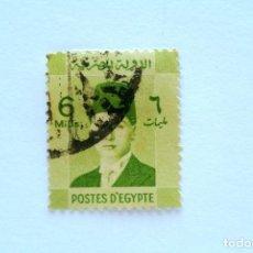 Sellos: SELLO POSTAL EGIPTO 1940 , 6 MILLIEME, REY FAROUK, USADO. Lote 154924426