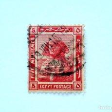 Sellos: SELLO POSTAL EGIPTO 1914 , 5 MILLIEME, ESFINGE, USADO. Lote 154926518