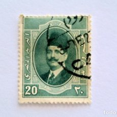 Sellos: SELLO POSTAL EGIPTO 1923 , 20 MILLEME , REY FUAD I, USADO. Lote 154938630