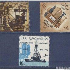 Sellos: EGIPTO 1965 - YVERT 651 + 652 + 653 ( ** ). Lote 155564686