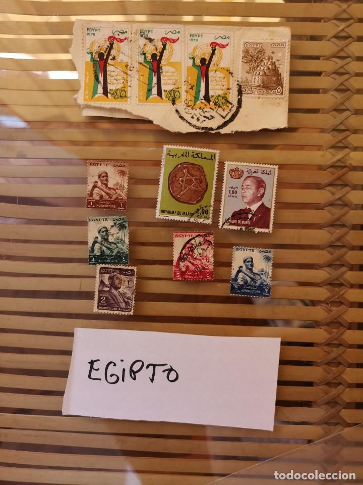 LOTE DE SELLOS ANTIGUOS PERTENECIENTE A EGIPTO Y ALGUNOS SELLOS ÁRABES (Sellos - Extranjero - África - Egipto)