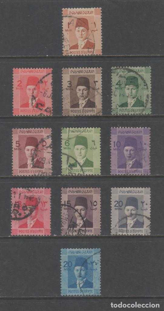 R/19496, SERIE COMPLETA USADA DE EGIPTO -REY FARUK-, AÑOS 1937/1944, EN BUEN ESTADO (Sellos - Extranjero - África - Egipto)