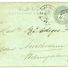 Sellos: ENTERO POSTAL ENVIADO DESDE PORT TEWFIK A AMSTERDAM, 1903. Lote 162788946