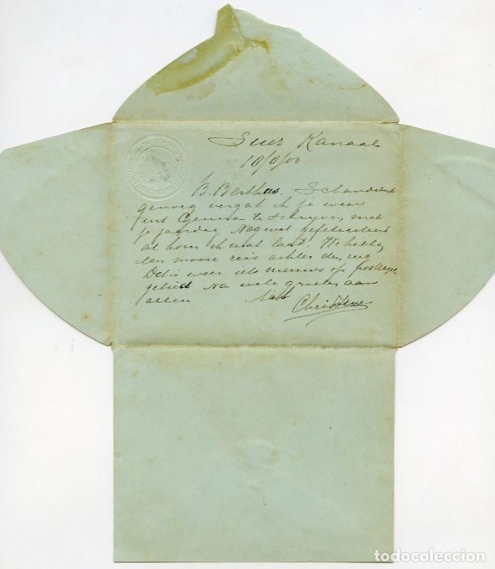 Sellos: Entero postal enviado desde Port Tewfik a Amsterdam, 1903 - Foto 2 - 162788946