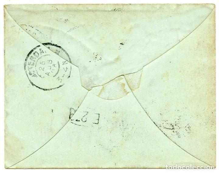 Sellos: Entero postal enviado desde Port Tewfik a Amsterdam, 1903 - Foto 3 - 162788946