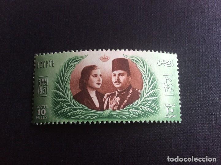 EGIPTO Nº YVERT 280*** AÑO 1951. SEGUNDO MATRIMONIO DEL REY FARUK (Sellos - Extranjero - África - Egipto)