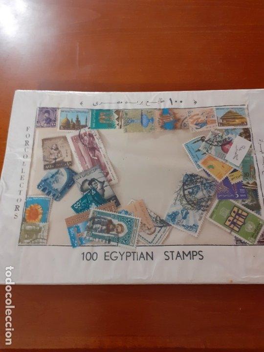 CARPETA DE 100 SELLOS DE EGIPTO (Sellos - Extranjero - África - Egipto)