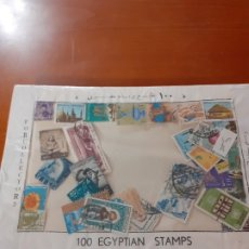 Sellos: CARPETA DE 100 SELLOS DE EGIPTO. Lote 181467578