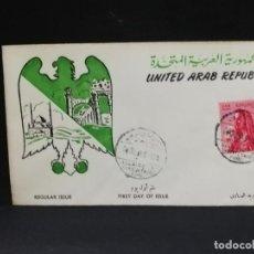 Sellos: SOBRE PRIMER DIA. AFRICA. EGIPTO. REGULAR ISSUE. 1959.. Lote 184906630