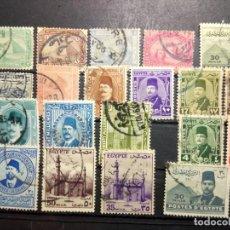 Sellos: EGIPTO, 20 SELLOS DIFERENTES . Lote 190373563