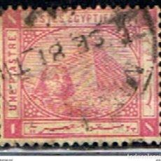 Francobolli: EGIPTO // YVERT 28 // 1879-81 ... USADO. Lote 191320886