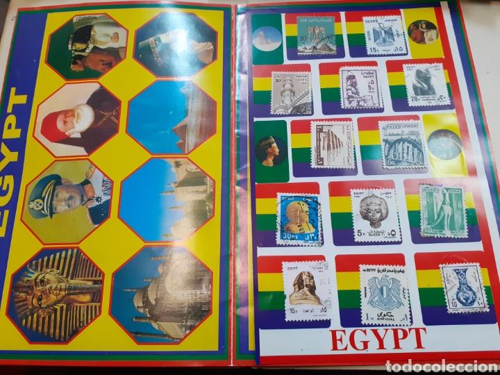 LOTE DE SELLOS DE EGIPTO PEGADOS (Sellos - Extranjero - África - Egipto)