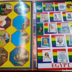 Sellos: LOTE DE SELLOS DE EGIPTO PEGADOS. Lote 191622811