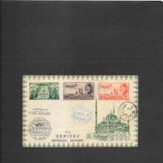 Sellos: EGIPTO PRIMER VUELO ESPECIAL BEPITEC DESDE EL CAIRO A BRUSELAS EN 1949,. Lote 191692317