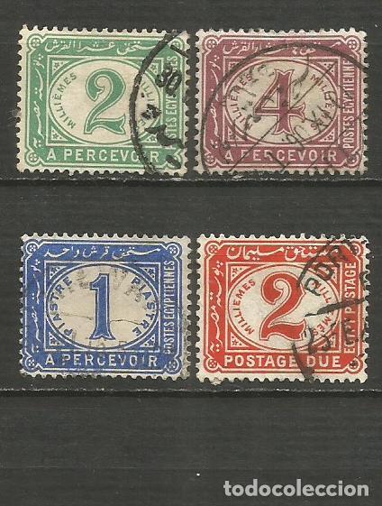 EGIPTO 1889 IMPUESTOS TAXE YVERT NUM. 15/18 SERIE COMPLETA USADA (Sellos - Extranjero - África - Egipto)