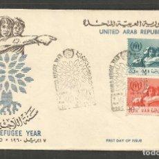 Sellos: EGIPTO SOBRE PRIMER DIA DE CIRCULACION YVERT NUM. 480/481. Lote 195507947