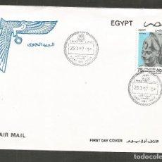 Sellos: EGIPTO SOBRE PRIMER DIA DE CIRCULACION YVERT NUM. CORREO AEREO 251. Lote 195508050