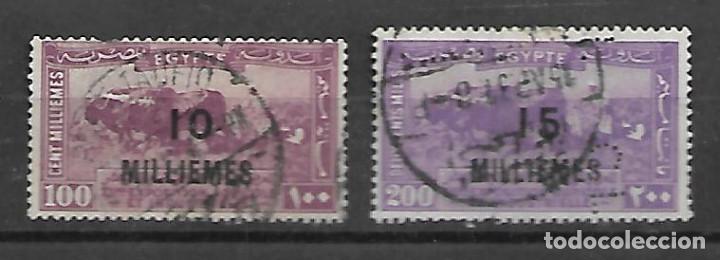 EGIPTO SELLOS DE LA SERIE Nº 106/107 CIRCULADOS DEL AÑO 1926 (Sellos - Extranjero - África - Egipto)