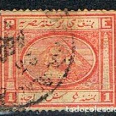 Francobolli: EGIPTO Nº 11 A (AÑO 1867), ESFINGE Y PIRAMIDE DE KEOPS, USADO. Lote 200376421