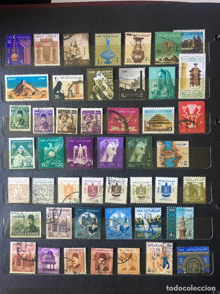 SELLOS EGIPTO, LOTE DE 47 SELLOS USADOS DIFERENTES (Sellos - Extranjero - África - Egipto)