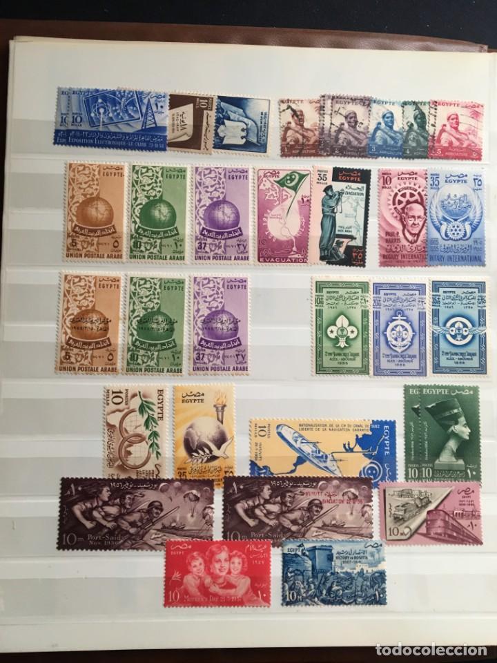 Sellos: EGIPTO, 1867 - 1982 Colección de Sellos, Hojas Bloque en Nuevo y Usado, Alto Valor en Catalogo. - Foto 8 - 202888332