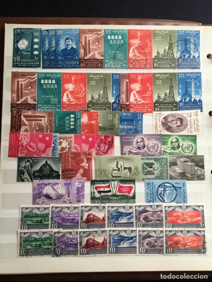 Sellos: EGIPTO, 1867 - 1982 Colección de Sellos, Hojas Bloque en Nuevo y Usado, Alto Valor en Catalogo. - Foto 10 - 202888332