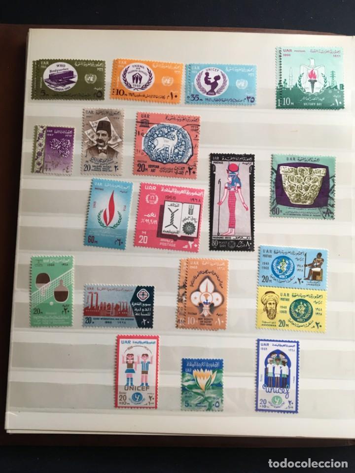Sellos: EGIPTO, 1867 - 1982 Colección de Sellos, Hojas Bloque en Nuevo y Usado, Alto Valor en Catalogo. - Foto 22 - 202888332