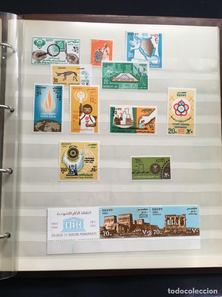 Sellos: EGIPTO, 1867 - 1982 Colección de Sellos, Hojas Bloque en Nuevo y Usado, Alto Valor en Catalogo. - Foto 25 - 202888332