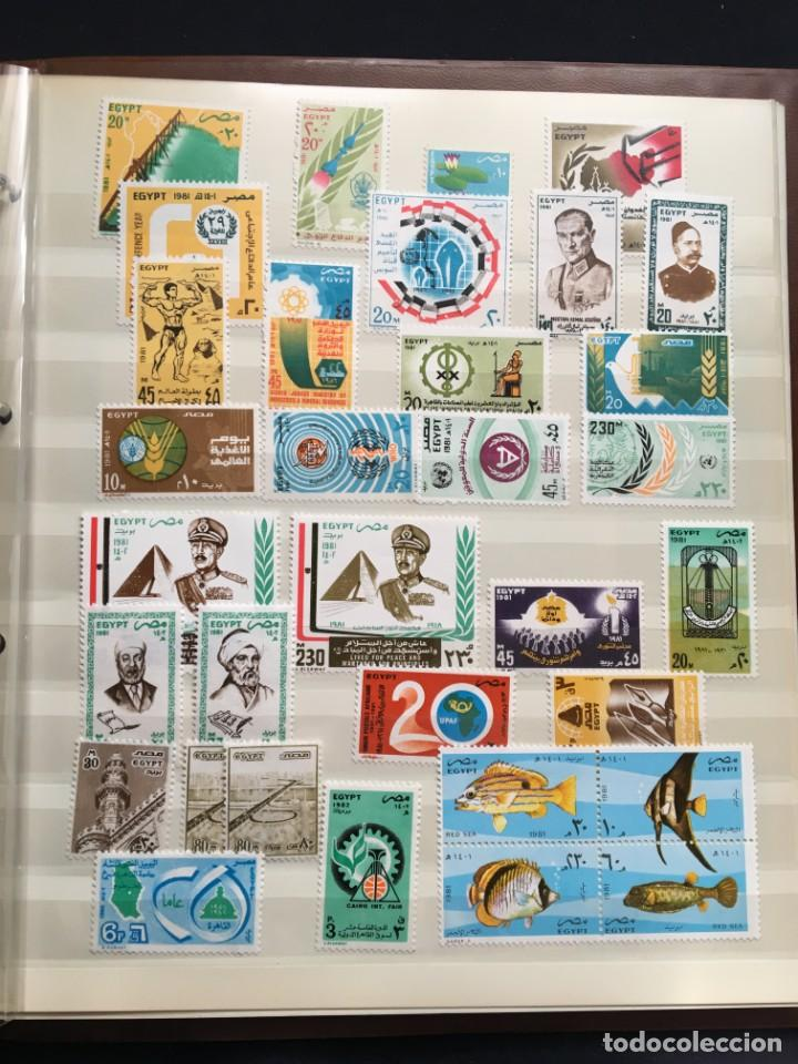 Sellos: EGIPTO, 1867 - 1982 Colección de Sellos, Hojas Bloque en Nuevo y Usado, Alto Valor en Catalogo. - Foto 27 - 202888332