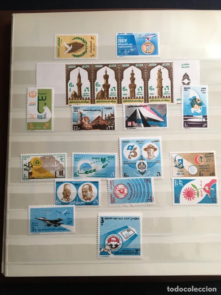 Sellos: EGIPTO, 1867 - 1982 Colección de Sellos, Hojas Bloque en Nuevo y Usado, Alto Valor en Catalogo. - Foto 28 - 202888332