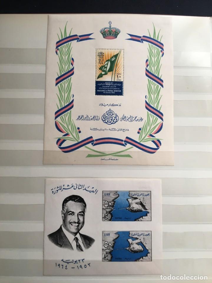 Sellos: EGIPTO, 1867 - 1982 Colección de Sellos, Hojas Bloque en Nuevo y Usado, Alto Valor en Catalogo. - Foto 34 - 202888332