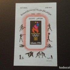 Sellos: EGIPTO Nº YVERT HB 60*** AÑO 1996. JUEGOS OLIMPICOS, EN ATLANTA. Lote 210617786