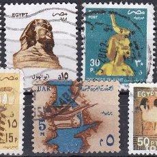 Sellos: LOTE DE SELLOS - EGIPTO - FARAONES - PIRAMIDES - (AHORRA EN PORTES, COMPRA MAS). Lote 221425908