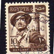 Sellos: ÁFRICA. EGIPTO. SOLDADO. 1953. USADO SIN CHARNELA. Lote 228429360