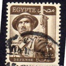 Sellos: ÁFRICA. EGIPTO. SOLDADO. 1953. USADO SIN CHARNELA. Lote 228429840