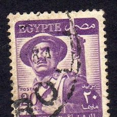 Sellos: ÁFRICA. EGIPTO. SOLDADO. 1953. USADO SIN CHARNELA. Lote 228475985