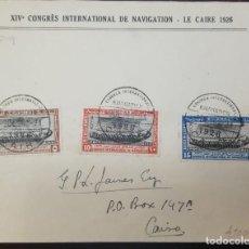 Sellos: O) 1926 EGIPTO, BARCO DE HATSHEPSUT, CONGRESO INTERNACIONAL DE NAVEGACIÓN EL CAIRO, XF. Lote 242928175