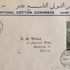 Sellos: O) 1950 EGIPTO, REY FAROUK - FUNDACIÓN DE LA UNIVERSIDAD FUAD I, KHEDIVE ISMAIL PASHA, ROYAL GEOGRAP. Lote 243196685