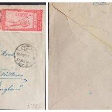 Sellos: O) 1925 EGIPTO, THOT TALLA DEL REY FUAD, CONGRESO GEOGRÁFICO INTERNACIONAL. EL CAIRO, DESDE EL CAIRO. Lote 243450310