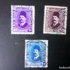 Timbres: EGIPTO 1934, REY FOUAD I, YT 169/71. Lote 246067120