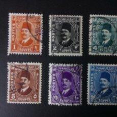 Timbres: EGIPTO 1936, REY FOUAD I, YT 172/77. Lote 246067370