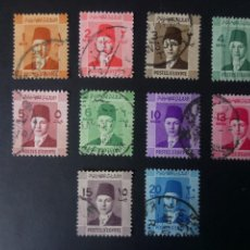 Timbres: EGIPTO 1937, REY FAROUK I, YT 187/95A. Lote 246067770