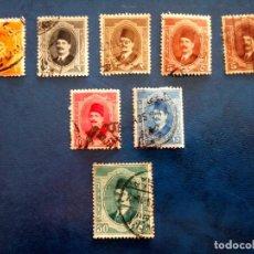 Timbres: EGIPTO 1923, REINO, REY FOUAD I, YT 82/4,86/8,90. Lote 252818665