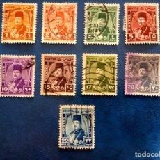 Timbres: EGIPTO 1944, REINO, REY FAROUK I, YT 223/32. Lote 252821010