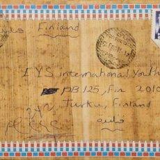 Sellos: O) 1997 EGIPTO, QUEEN TI, HOREMHEB, THUTMOSE III, WORLD POST DAY, CIRCULAN A FINLANDIA. Lote 254842795