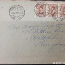 Sellos: O) 1929 EGIPTO, KING FUAD, SCT 194 5M CASTAÑO, CANCELACIÓN PORT SAIR, CIRCULADO A EE. UU. Lote 277305203